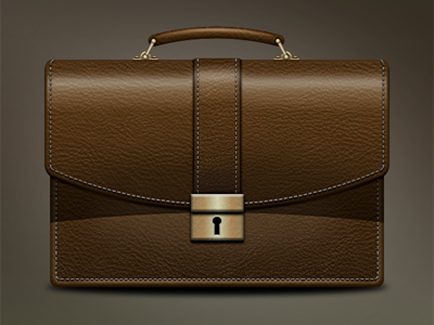Briefcase briefcase business leather icon design 2011 stylish photoshop