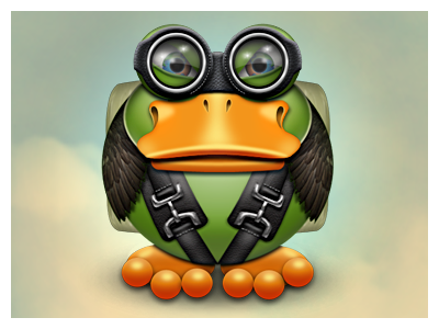 Professor Von Quackenstein goes skydiving icon photoshop duck skydiving replacement