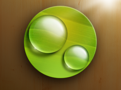 Nano Droplets iOS ios icon leaf waterdrop caustics reflection droplet droplets
