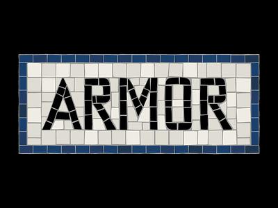 Armor Title Design film mosaic title design illustrator tile subway title card