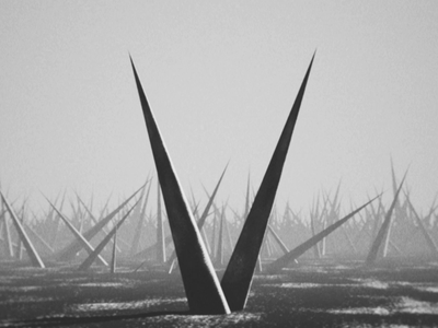 36 Days of Type - V thorns landscape cinema 4d loop 36 days of type 36daysoftype