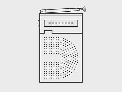 36 Days of Type - 5 design 2d radio illustrator illustration 36 days of type 36daysoftype