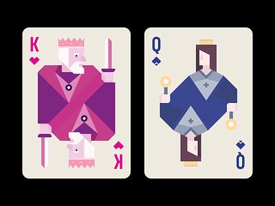 Playing Cards flat illustration flat design 2d ace jack queen king design playing cards illustrator illustration