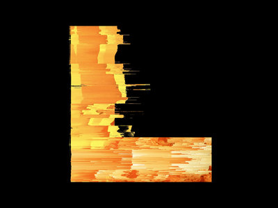 36 Days of Type 2021 - L glitch pixel sorting fire after effects loop animation 36 days of type 36daysoftype