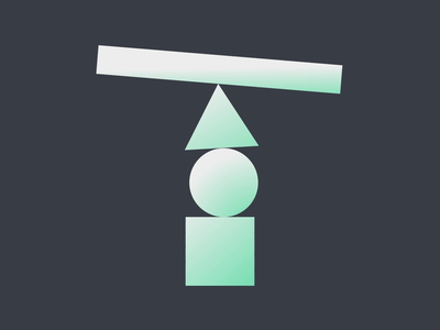 36 Days of Type 2021 - T balance 2d after effects loop animation 36daysoftype 36 days of type