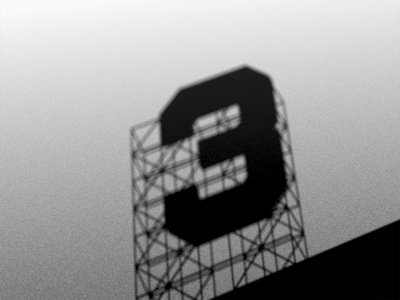 36 Days of Type 2021 - 3 3d shadow cinema 4d 36daysoftype 36 days of type