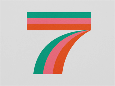 36 Days of Type 2021 - 7 after effects 2d loop animation 36daysoftype 36 days of type