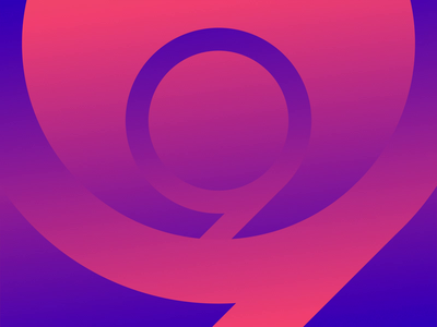 36 Days of Type 2021 - 9 gradient after effects loop animation 36daysoftype 36 days of type