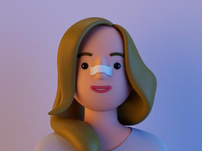 Hannah 3d cinema 4d redshift avatar portrait profile character human