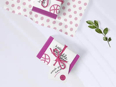 Hello Dribbble Soap hellodribbble hello dribble hello world dribbbleweeklywarmup pack soapbox soap packaging