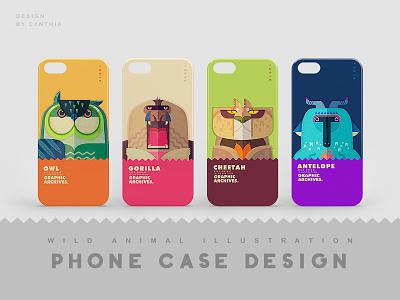 WILD ANIMAL phone case design animal illustration phone case wild animal