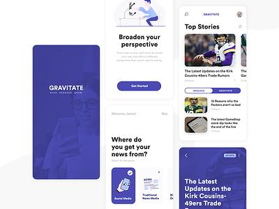 News App Concept sports mobile clean interface app flat ui illustration news app newsfeed news