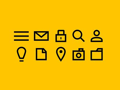 Simple Icon Set flat icons