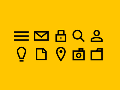 Simple Icon Set flat icons