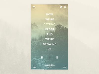 Music App Concept audio image background app interface ui player music lyric