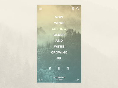 Music App Concept audio image background app interface ui player music lyric