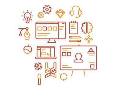 UX Icons flat illustration icons