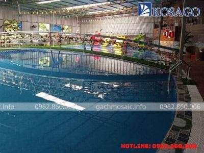 Công trình bể bơi anh Kiều Văn Điệp tại Thạch Thất, Hà Nội