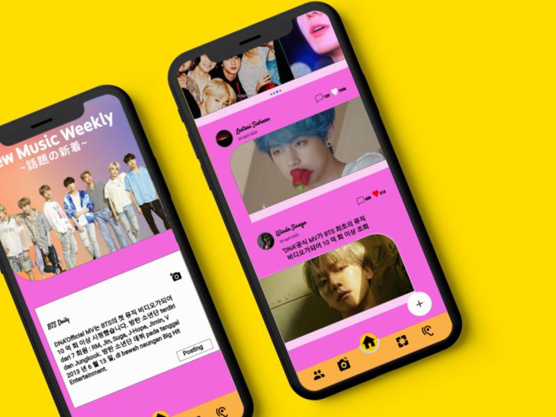 Design Fanbase BTS Mobile App design app mobile