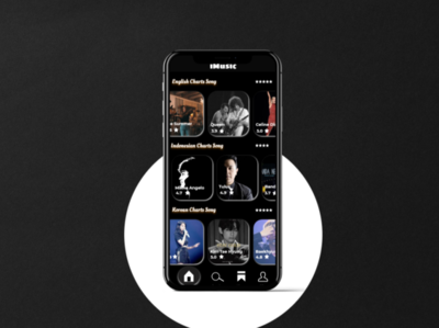 Design IMUSIC ui app mobile design