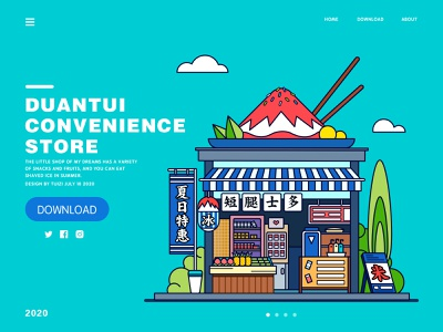Convenience  Store illustration flat design