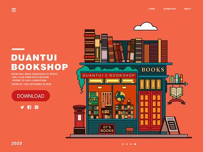 Book  Shop illustration flat design