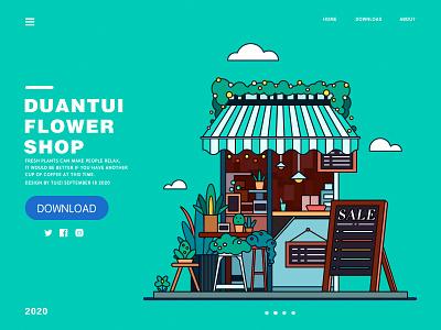 Flower  Shop illustration flat design