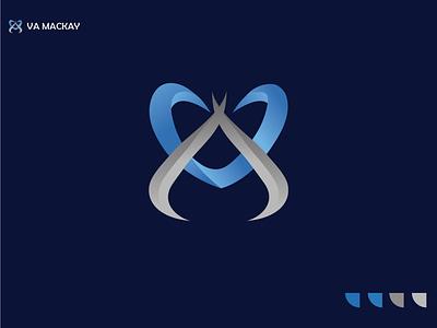 modern letter va logo mordern logo logos branding logo design idea logodesign lettering gredint a logo v logo letterlogo modern letter logo