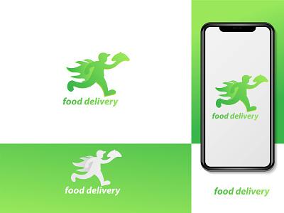colourful green food delivery logo food delivery logo template online food delivery logo newlogo greenfooddelyvery green logomaker vectorlogo dribbble logomake foodlogopng food