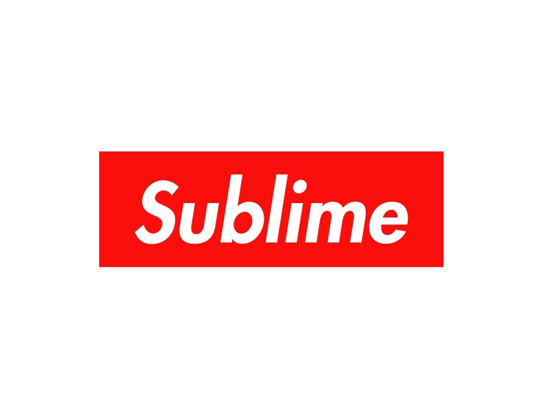 Sublime bold typography red designer fun brand supreme design sublime