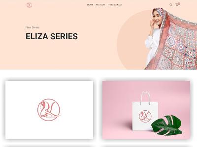 EL Hijab graphic design fashion vector ui illustration design creative brand app abstract logo branding