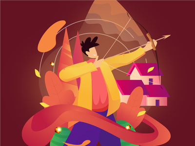 Archery Illustration archery digitalart vector design graphicdesign inkscape illustration