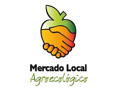 Mercado Local Agroecologico logo ecologia imagen corporativa icon spanish design branding ecology logodesign brand hands identity mark