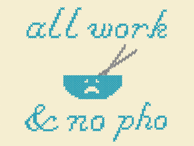 No Pho pho cross stitch sad