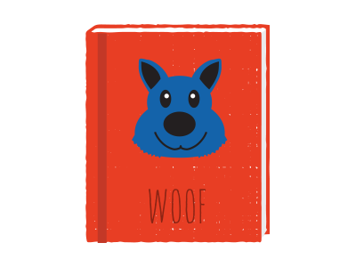 Woof book illustration woof dog