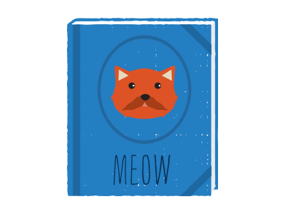 Meow book illustration meow cat