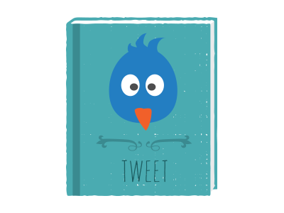 Tweet book illustration bird tweet