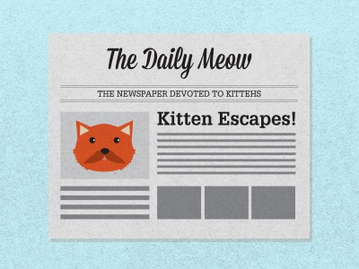 Kitteh News kitty kitteh news newspaper