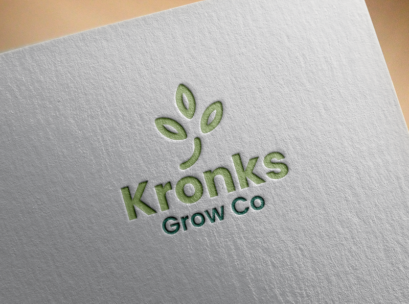 Kronks Grow Co Logo companylogo design company branding logo graphic design