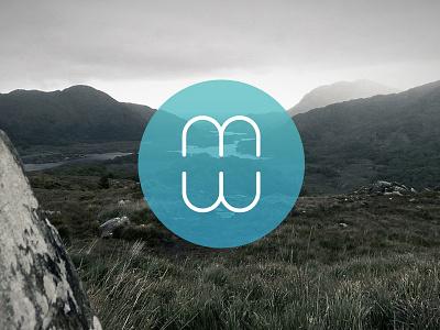 MW Logo logo transparency gradient circle monogram