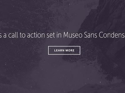 Museo sans Condensed overlay ocean unsplash