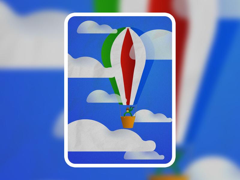 Air balloon vector illustraion