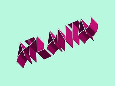 Atlanta hand lettering procreate ipad ipad lettering lettering atlanta