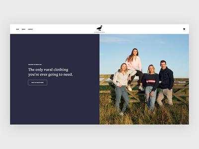 Puddle Duk Header Concept vector graphic design website minimal web ux ui branding illustration design