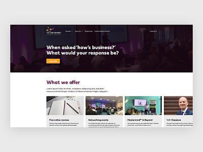 The Transformer Homepage Concept logo art illustrator minimal branding website web ux ui design