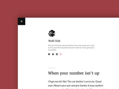 Wolf Club   WIP