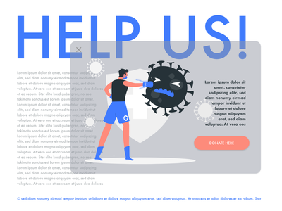 Daily Ui #16 - Pop-Up / Overlay landing webdesign design pop up donate covid19 dailycssimages daily ui 016 dailyui