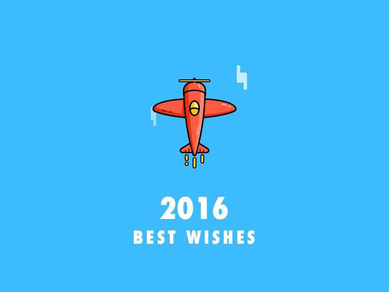 best wishes airplane