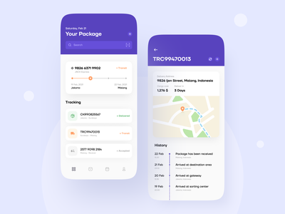 Delivery App shipping box shipment delivery service tracking app tracking track parcel delivery app delivery package ios mobile design mobile app minimalist clean app design ux ui