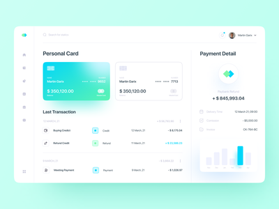 Finance Dashboard dashboard design dashboard wallet app banking payment finance dashboard ui dashboad website minimalist clean ux ui